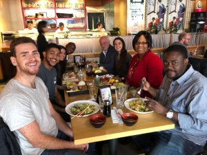 Lunch at Symphony Sushi to mark the end of a productive Fall semester.