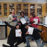 Ebong group photo in lab